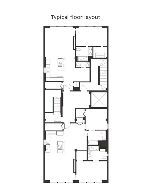 Typical Floor Layout - The Alexandre Buffalo